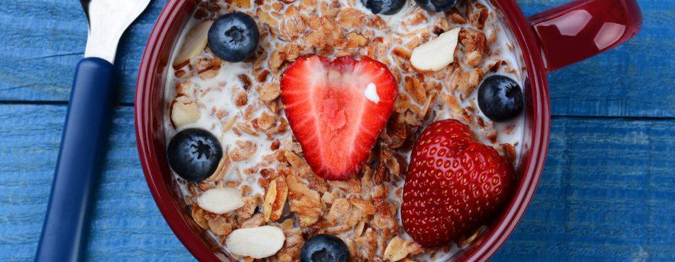 oatmeal, strawberries