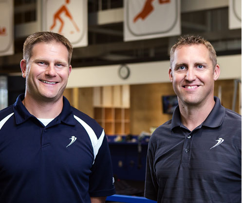 "The idea for Athletes' Training Center started when Travis Manners began his career treating injured athletes in 1999. ""I realized early on there was a disconnect between traditional outpatient rehabilitation and what athletes really need to get back to optimal performance levels,"" Travis says. Over the next 10 years, Travis developed and refined the methods now in place at Athlete's Training Center. Travis partnered with Nick Wegener to start Athlete's Training Center in 2009, with a unique, research-based approach to physical therapy and sports performance. The goal was to build a facility to serve as a resource for athletes and their families to find unmatched rehabilitative care, training and service. Our mission is to seamlessly integrate sports physical therapy and performance training. We offer a complete spectrum of services for active people of any age, from kids in youth sports to professional athletes to anyone wants to improve their health and fitness in their daily lives. We believe each and every person exists somewhere on the spectrum of physical performance, and we can get you from one point to another on that spectrum."