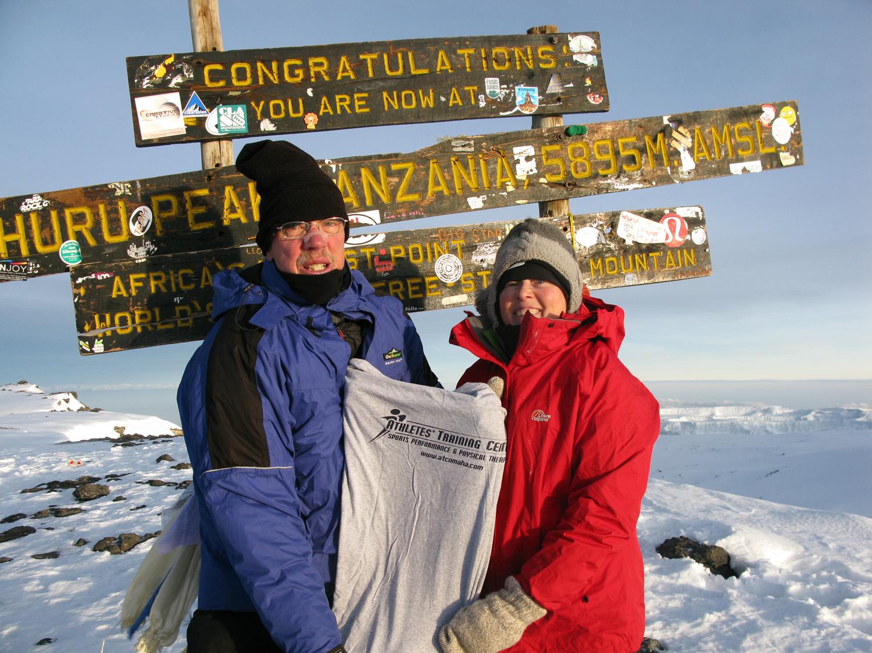 Keith and Jayme at summit